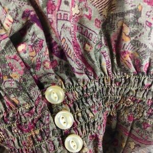 Ralph Lauren Tops - Ralph Lauren size XL Floral Blouse with smocking